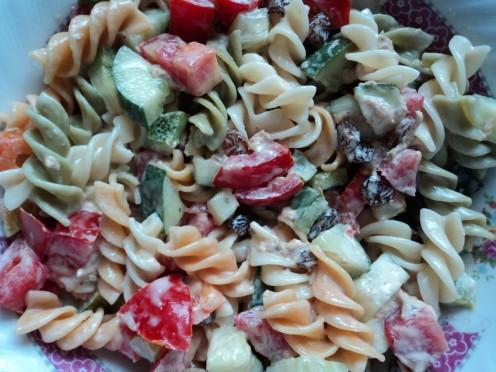 Tri-Color Rotini Pasta Recipe - Pasta Recipes - Vegetable Recipes - Vegetarian and Vegan Recipes