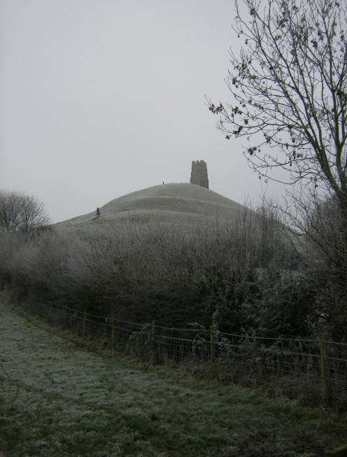 Historic pathways up to the top of Glastonbury Tor