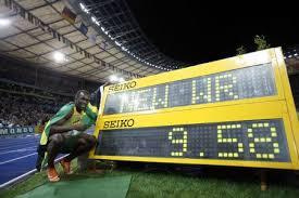 Bolt winning the men's 100m final race of the 2009 IAAF Athletics World Championships in Berlin, Germany, ...