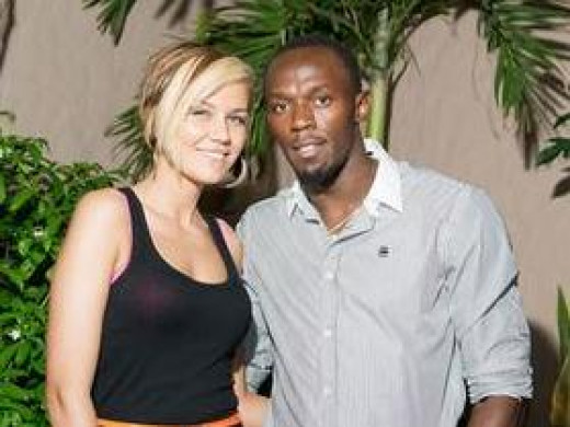 Lubica Kucerova and Usain Bolt