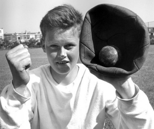 In the Netherlands, during WWII, baseball was that popular, that kids would use old soccer balls as gloves