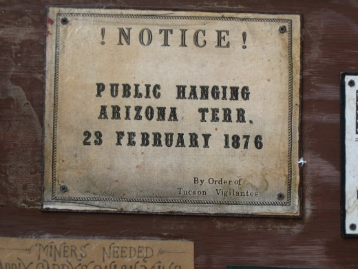 Ad announcing a Public Hanging - a popular form of entertainment in the old west