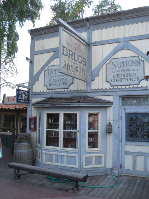 Old Pharmacy store in Tucson Arizona's Trail Dust Town