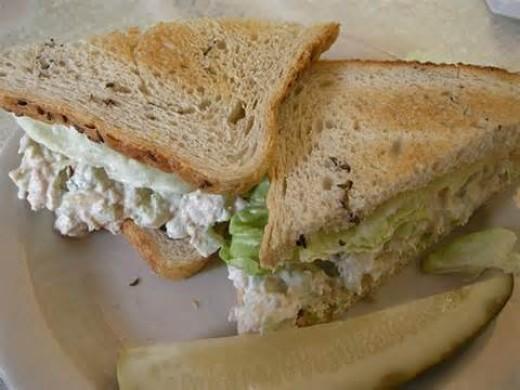 Tuna Salad on White Toast