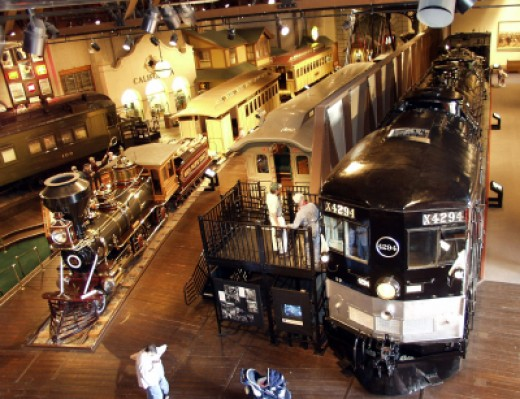 The California State Railroad Museum In Old Sacramento