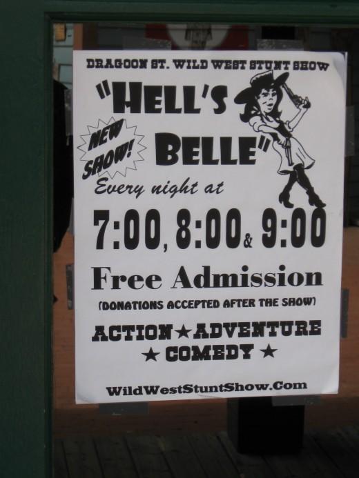 Poster for Dragoon Street Wild Wild West Stunt Show