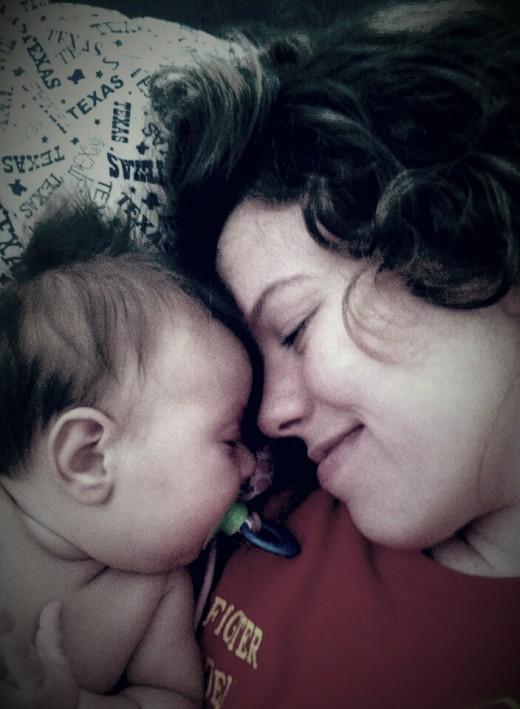 Baby Avery and I