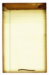 A note pad for taking notes