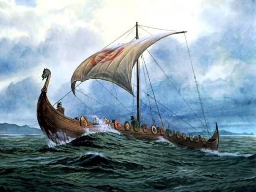 """""""Viking Raid"""" by E. Charrier, 1881"""