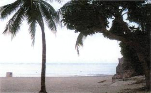 Tomhon Bay, Guam, is the spot where the martyrdom was supposed to have happened.