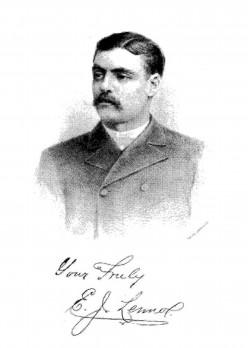 Portrait and signature of E.J. Lennox, architect from Toronto.