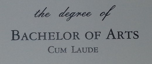 Section of my diploma. Also, a symbol of freedom.