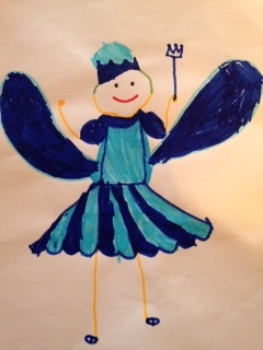 Original art by my nephew Noah Duncan Fraser aged 4 - Fairy