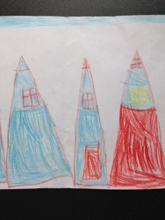 Fairy Houses by Noah Duncan Fraser aged 4