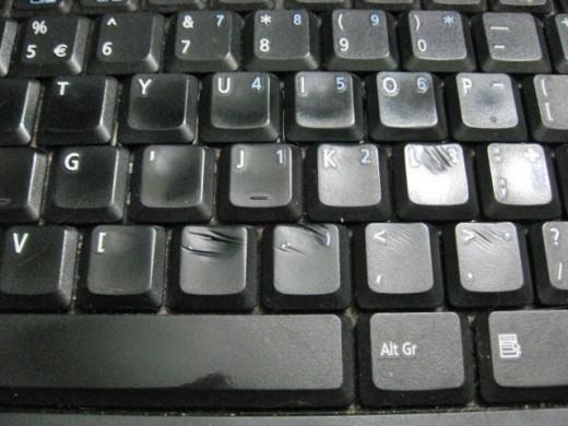Worn keyboard