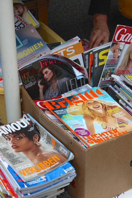 Reading print magazines from a variety of genres can provide topical inspiration for what to blog about.