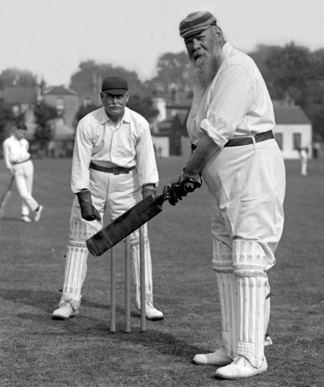 The great W G Grace credited with popularising cricket in the late 1800's and early 1900;s