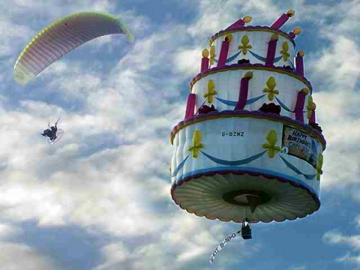 A cake in the air (Photo Source:jeepneymanilaph.wordpress.com)