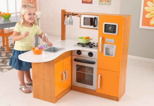 Limited edition orange corner kitchen