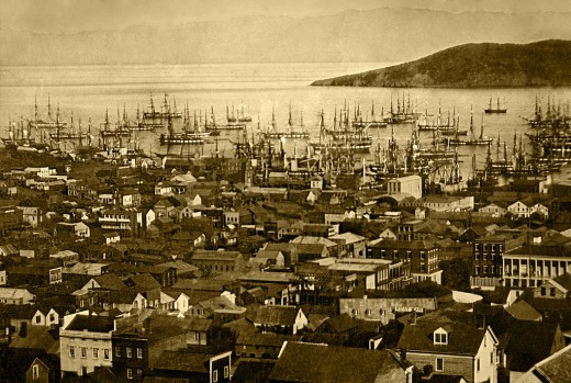San Francisco harbor, 1850-51.