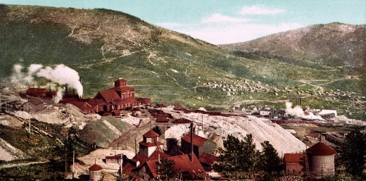 Battle Mountain mines, Cripple Creek, Colorado, c. 1898.