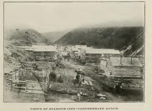 Diamond City, MT c. 1870.