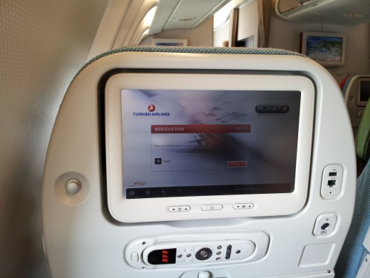 A comfortable sized touch-screen for your inflight entertainment