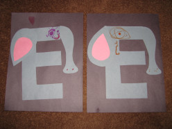 """E"" Is For Elephant--Letter ""E"" Activities For Kids"