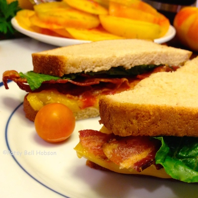 Sun warmed tomatoes make the best BLTs. Gold Medal also makes excellent roasted tomato jam.