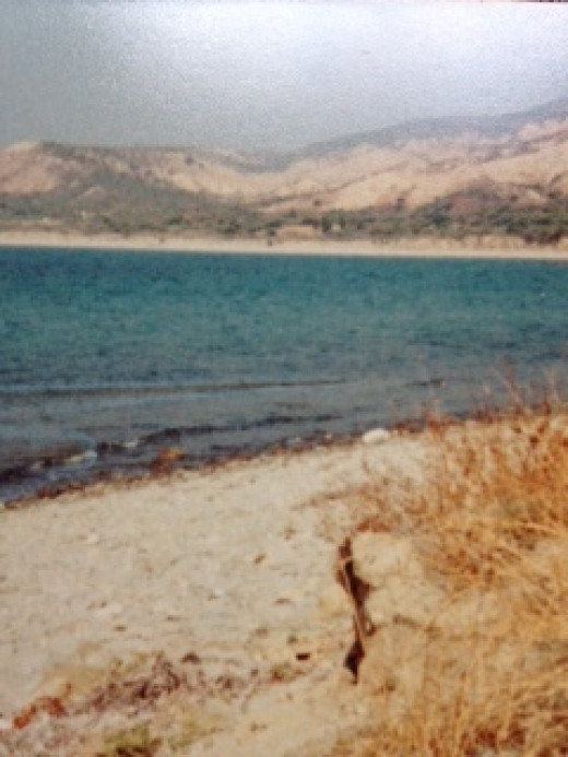 The beach at Gallipoli. Photo taken by me 1982.
