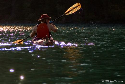 Kayaking Lake Yellowstone