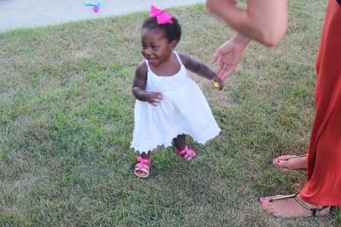 Hannah learning to walk