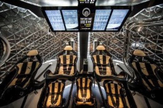 Interior of Crew Dragon