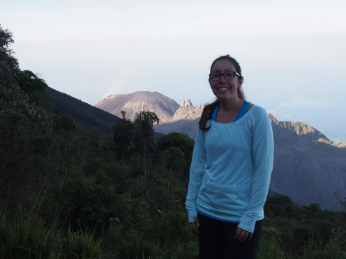 At the mirador of Santiaguito, Central America's most active volcano, erupting about every 40 minutes.