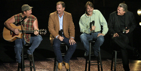 (from left) Larry, Bill Engvall, Jeff Foxworthy, and Ron White