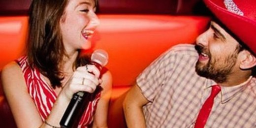 Bored? Why don't you and your girlfriend go to a karaoke club and belt out your favorite tunes?