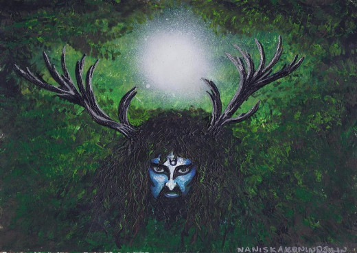 Cernunnos, The Celtic Horned God of the Forest. Lord of the Wild and The Hunt. Protector and King Of The Ancients Places.