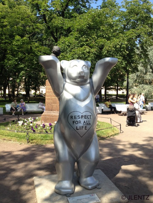"""One of the four special bears stands for """"Respect for All"""""""