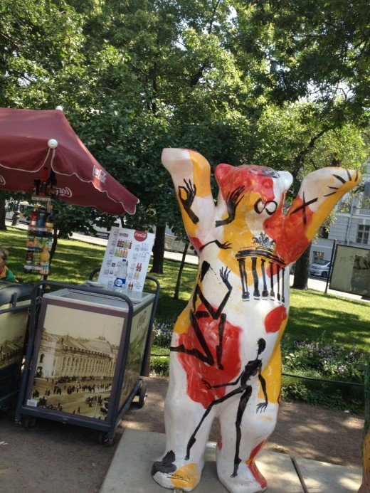 German Buddy Bear on display in St. Petersburg