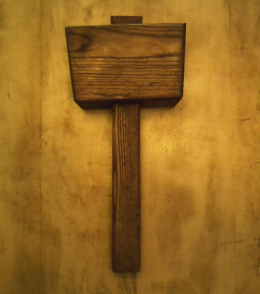 Completed mallet with finish!