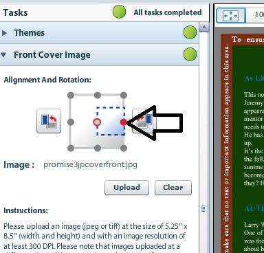 You can use this points in Cover Creator to slightly move your cover up, down or side to side.