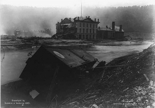 Flooding and Damage at Cambria Iron Works c. 1889