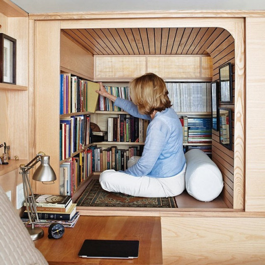 A reading nook might very well be in my near future. There's space in my home, and I think I've learned how to purge!