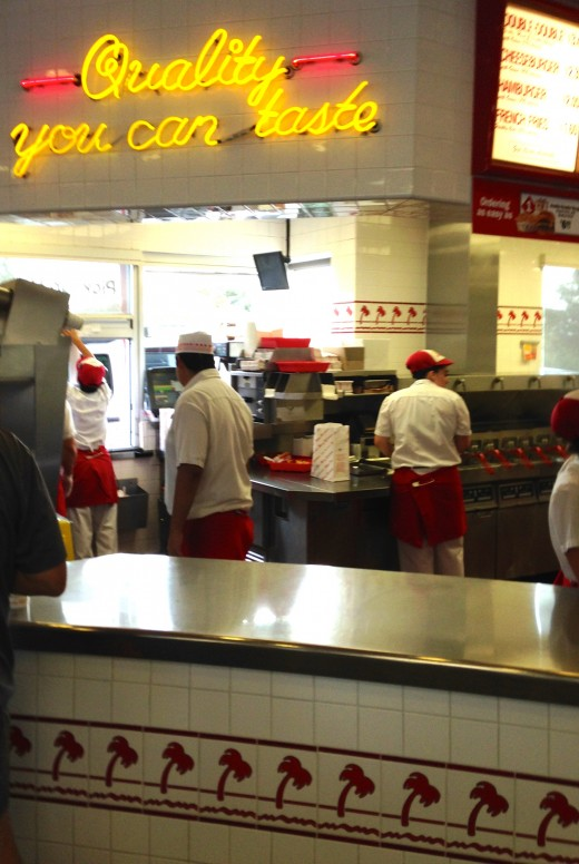 Inside In-N-Out in Goleta, CA.