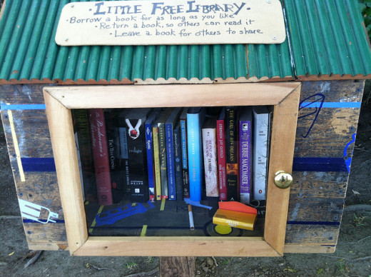Little Free Libraries are one way to set your unwanted, unread, or previously read books free to others to read!