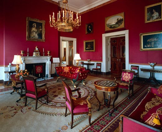 The White House Red Room during the Clinton Administration.