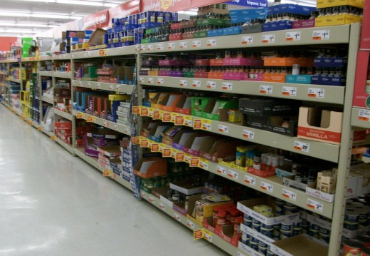 Bulk food on shelves image