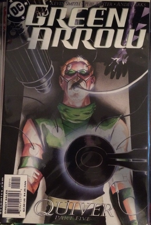 The cover to Green Arrow: Quiver #5