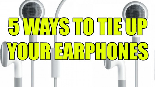 5 ways to tie up your earphones