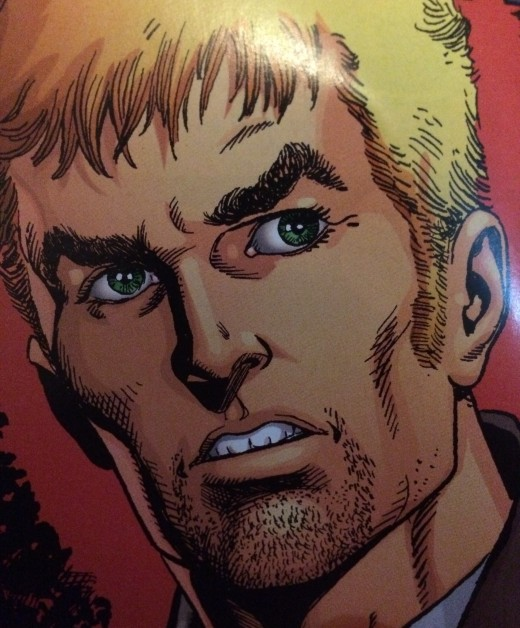 The beardless Oliver Queen from the New 52 Green Arrow.